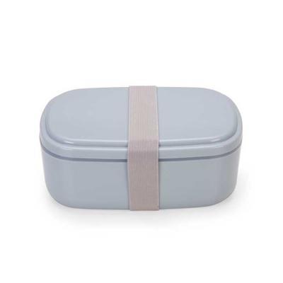 Canarinho Brindes - Marmita de plástico com garfo, colher e dois compartimentos. Possui elástico de nylon pra travar os compartimentos, acompanha talheres que se encaixam...