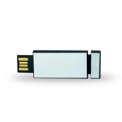 Pen drive plástico Personalizado de 4GB retrátil de clique.  Medidas aproximadas para gravação (CxL):  1,6 cm x 3,6 cm  Tamanho total aproximado  (CxL... - Canarinho Brindes