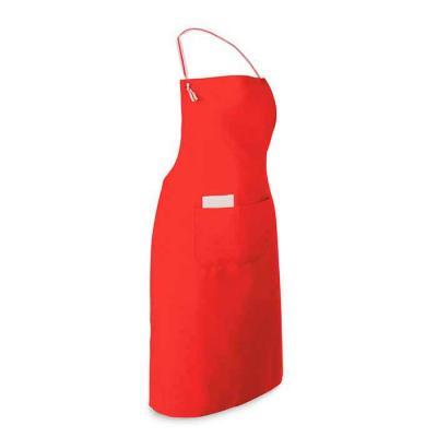 Avental personalizado de material bagun sintético com bolso inferior frontal. Medidas aproximadas...