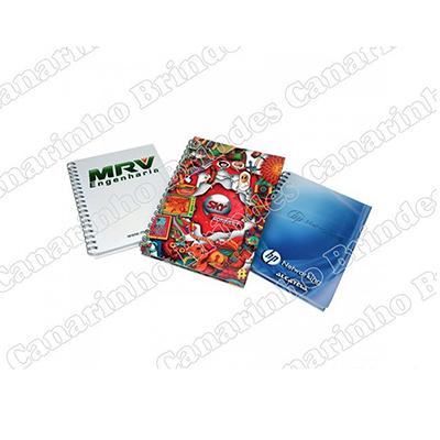 Canarinho Brindes - Cadernos personalizados, com capa dura.