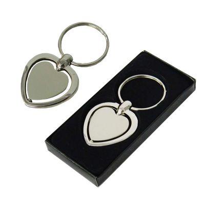 Canarinho Brindes - Chaveiro em formato de coração.