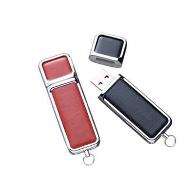 Canarinho Brindes - Pen drive de couro personalizado.