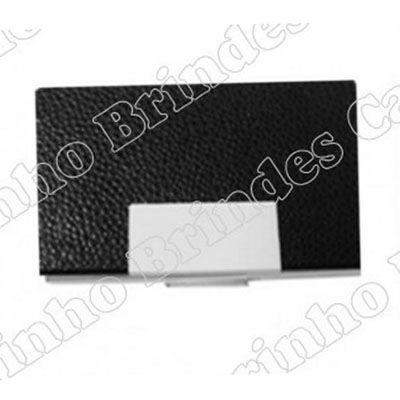 Porta cartão em couro personalizado.