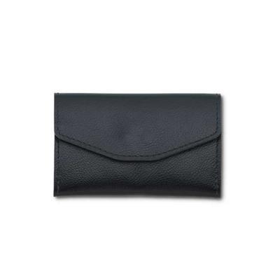 Elegante, prático e moderno, o porta cartão em couro com forro em suede tem duas divisórias para ...
