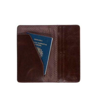 alvo-couro - Porta passaporte