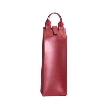 Alvo Couros - Com seu design sofisticado, o porta garrafas de couro é uma ótima opção para presentear seus clientes junto a uma bebida especial. O fecho de lingueta...