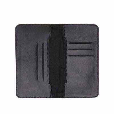 O porta celular em couro tem estilo abre-e-fecha, protegendo seus pertences e suas cinco divisóri...