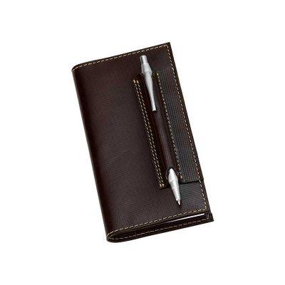 Caderneta de bolso com porta caneta