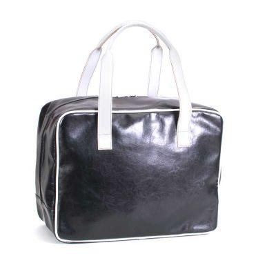 - A bolsa de viagem é moderna, possui amplo espaço, confortáveis alças de mão que facilitam seu transporte e fechamento em zíper. Personalizada com a id...
