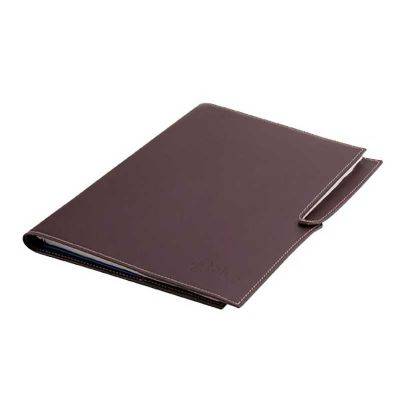 alvo-couros - Caderno com miolo de 100 folhas e porta caneta
