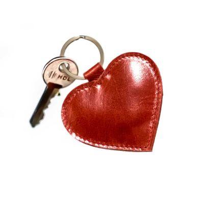 alvo-couros - Chaveiro coração