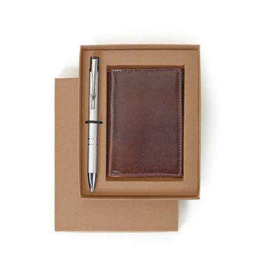 alvo-couro - Kit porta cartão de couro