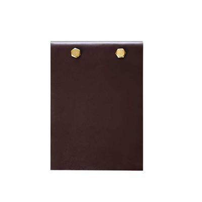 alvo-couros - Porta bloco prático, capacidade de guardar de cem a cento e cinquenta folhas, possui um design moderno com ferragem de parafuso. Perfeito para ter em...