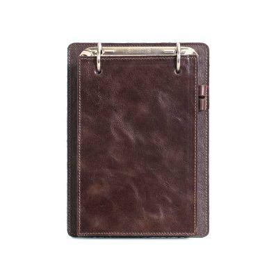 alvo-couros - Porta bloco em couro com porta caneta