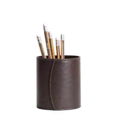 Porta canetas de couro