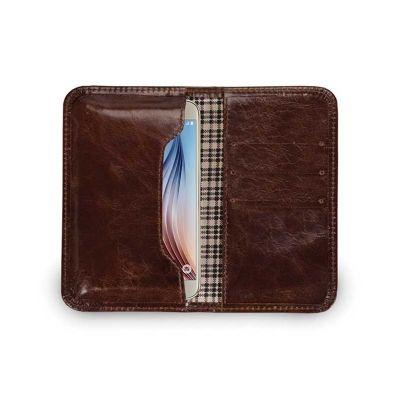 Porta celular com divisórias para guardar cartão