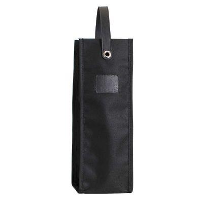 alvo-couro - Porta garrafa de vinho de nylon