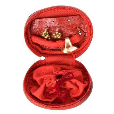 alvo-couro - Porta joias em couro.