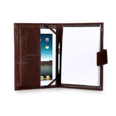 Alvo Couros - Porta ipad com porta pen drive, porta caneta e porta bloco