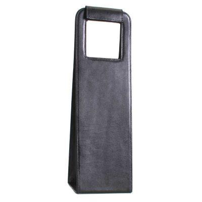 alvo-couro - Porta garrada de vinho com fechamento de luva e velcro
