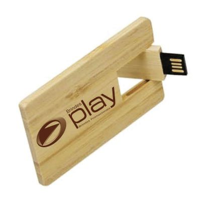 Brindes Play - Pen Card madeira 4GB