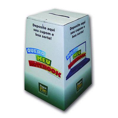 aguia-promocional - Urna de papelão personalizada.