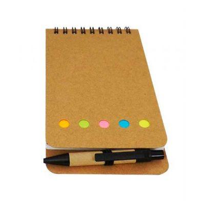 topy-10-brindes - Bloco de anotações com caneta e Post-it