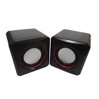 Topy 10 Brindes - Caixinha de som de plástico resistente com cabo USB.