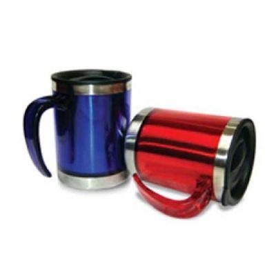 Topy 10 Brindes - Caneca de 400 ml em aço inoxidável