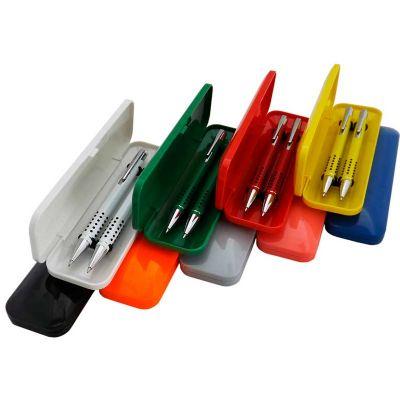 Conjunto caneta e lapiseira semi-metal - Topy 10 Brindes