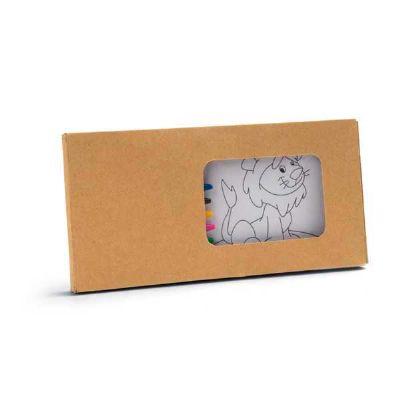Kit para pintar em caixa de cartão
