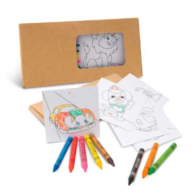 Kit para pintar em caixa de cartão - Topy 10 Brindes
