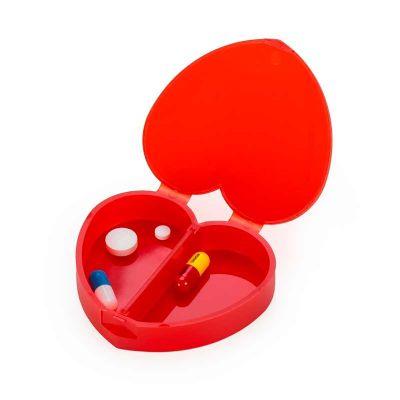 Topy 10 Brindes - Porta Comprimido Plástico de Coração