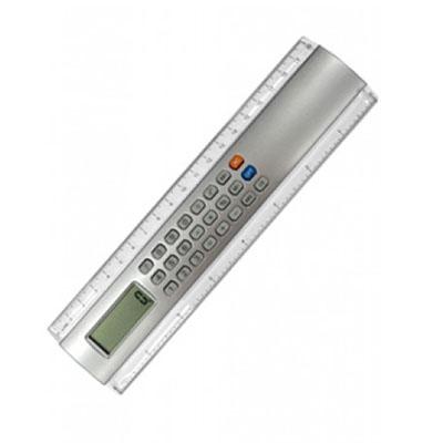 Topy 10 Brindes - Régua de plástico de 20 cm com calculadora.