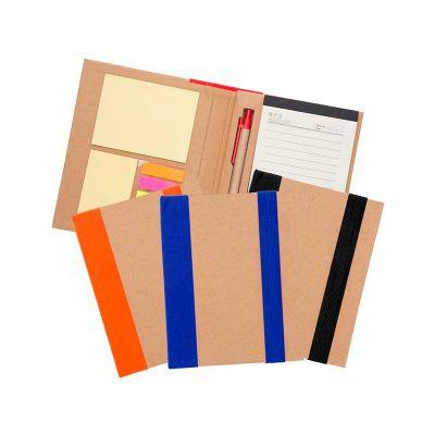 3RC Brindes - Bloco de anotações com capa dura e caneta
