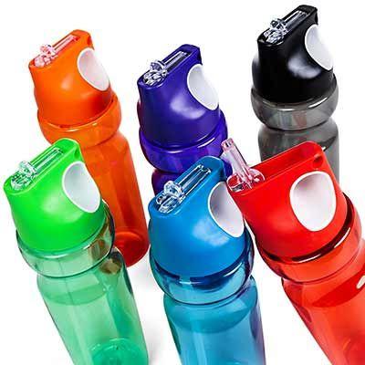 3RC Brindes - Squeeze plástico 900 ml colorido translúcido