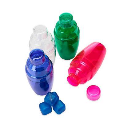 3RC Brindes - Coqueteleira plástica 230ml com gelo ecológico.