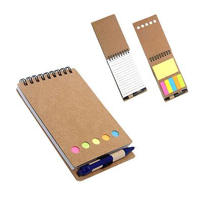3RC Brindes - Bloco de anotações com sticky notes e caneta.