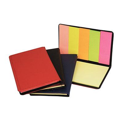 3rc-brindes - Bloco de anotação com sticky notes colorido.