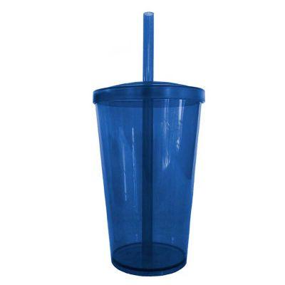 3rc-brindes - Copo acrílico com tampa e canudo