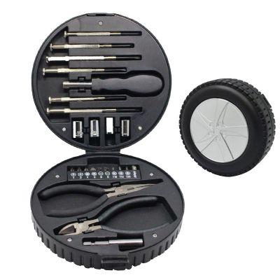 3rc-brindes - Kit ferramenta com estojo em formato de pneu