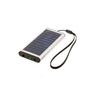 Diferente Mente Brindes - Carregador solar com cabo USB. Carrega diversos equipamentos eletrônicos.