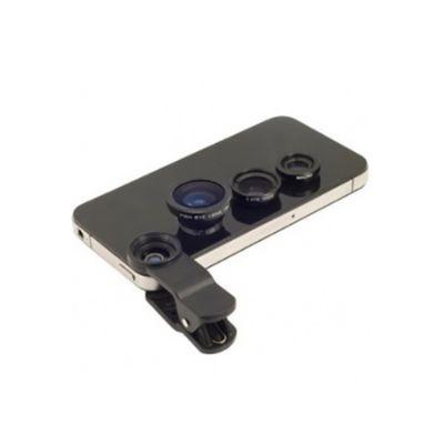 Conjunto Universal com 3 lentes para celulares - Diferente Mente Brindes