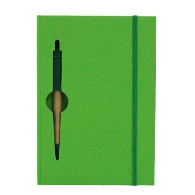 brindes-e-ideias - Bloco de anotações e caneta.
