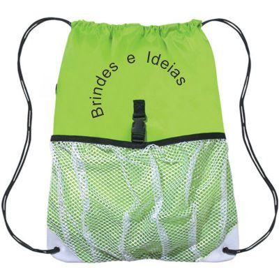 Brindes e Ideias - Saco mochila em nylon.