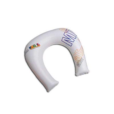 energia-brindes - Travesseiro inflável para pescoço personalizado de PVC, 35 x 30cm e impressão em silk.