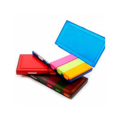 Energia Brindes - Bloco de anotações personalizado e com skicky notes coloridos.