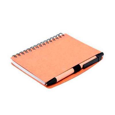Bloco ecológico com 70 folhas e caneta. - Energia Brindes