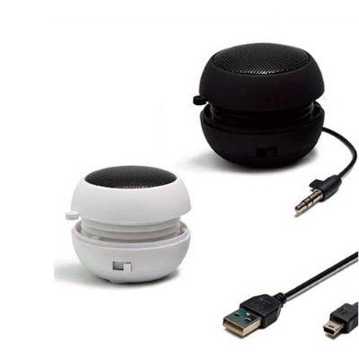 Energia Brindes - Mini caixa de som portátil personalizada.