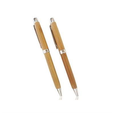 Energia Brindes - Caneta personalizada ecológica de bambu, detalhes de metal. É o brinde personalizado ideal para seu evento.